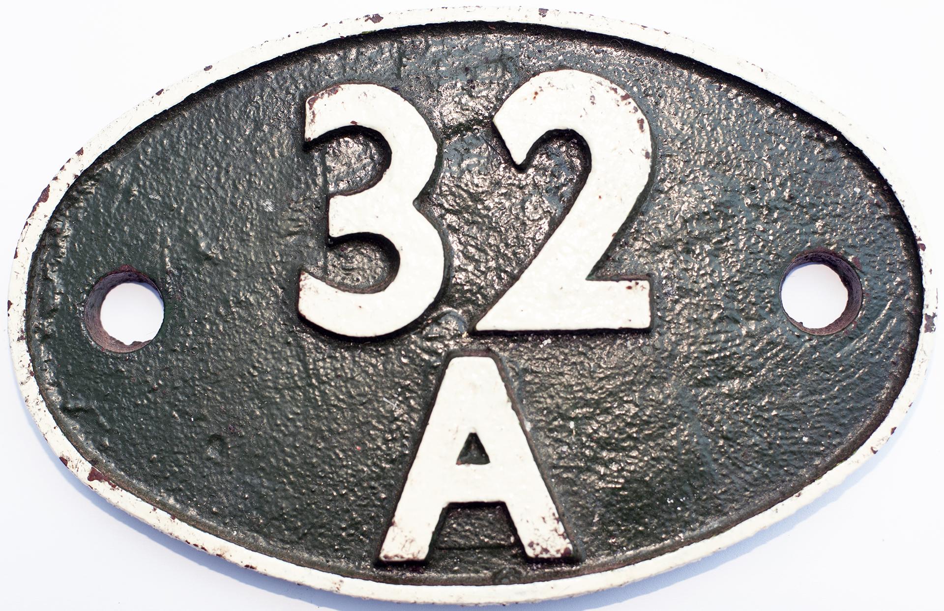 Shedplate 32a Norwich 1950-1973 With Sub Sheds