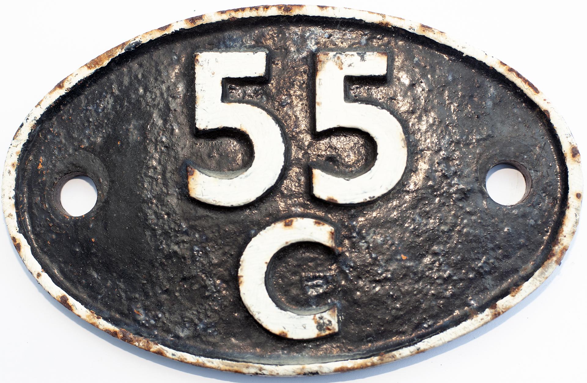 Shedplate 55c Farnley Junction 1956-1966. Lightly