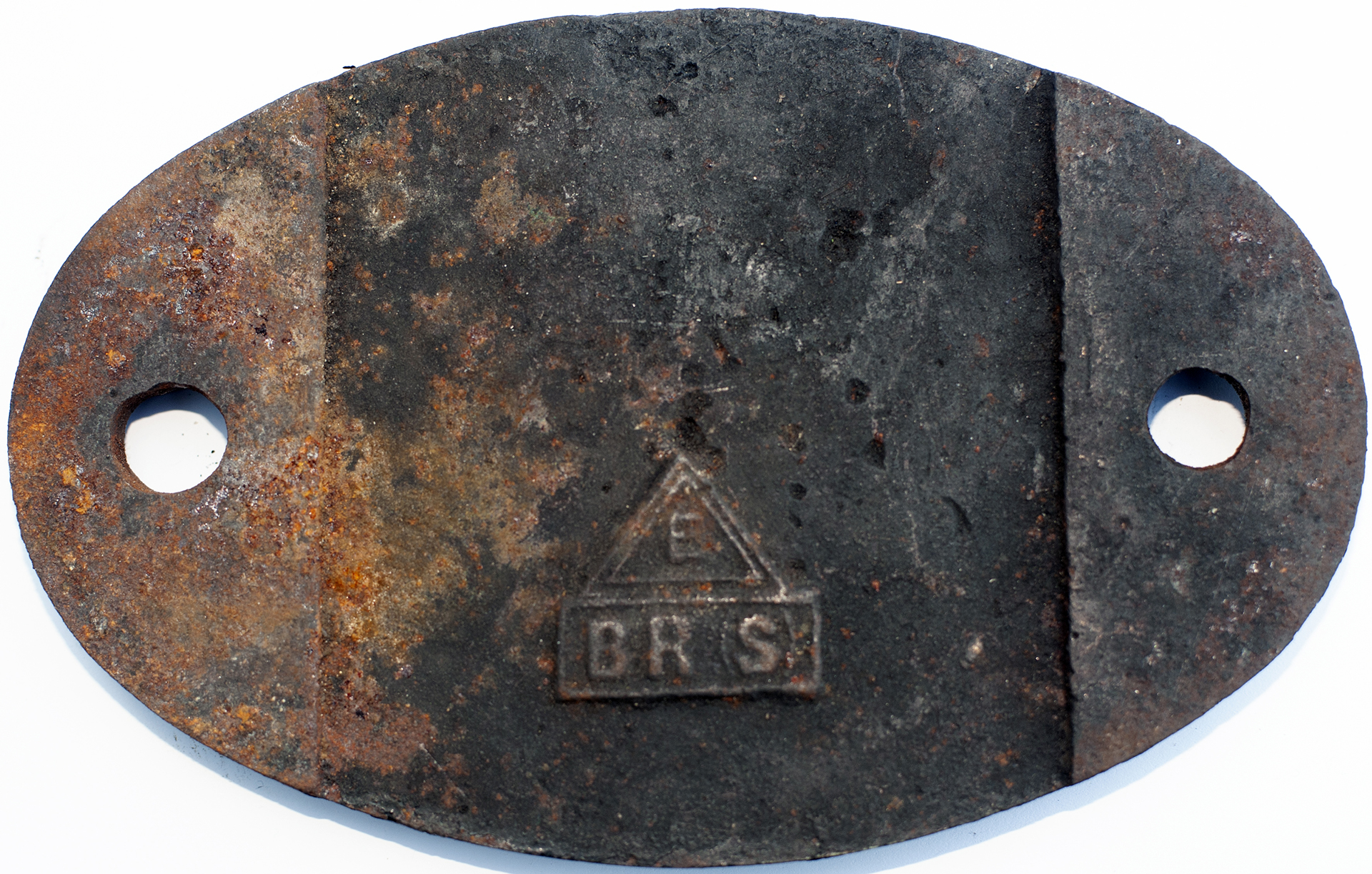 Shedplate 74d Tonbridge 1950-1958. In As Removed
