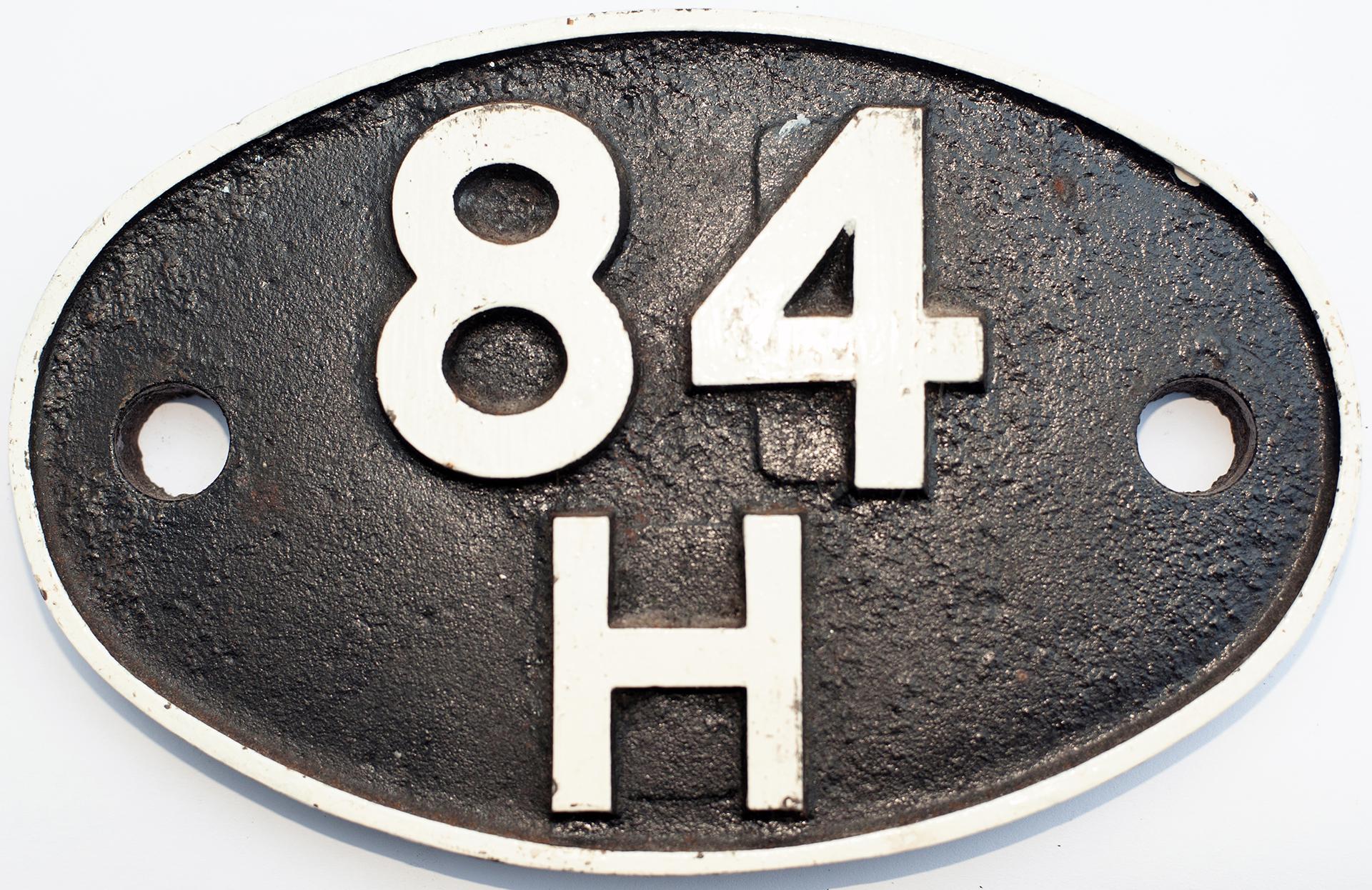 Shedplate 84h Wellington Salop 1950-1963 With Sub