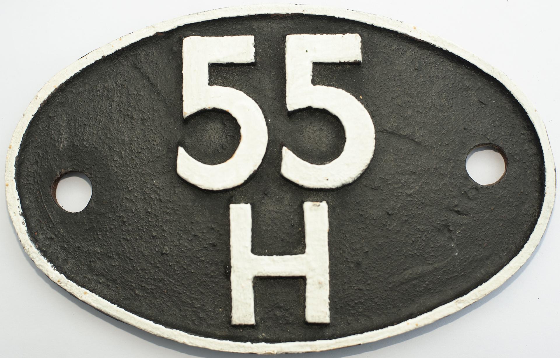 Shedplate 55h Leeds Neville Hill 1960-1966. Face
