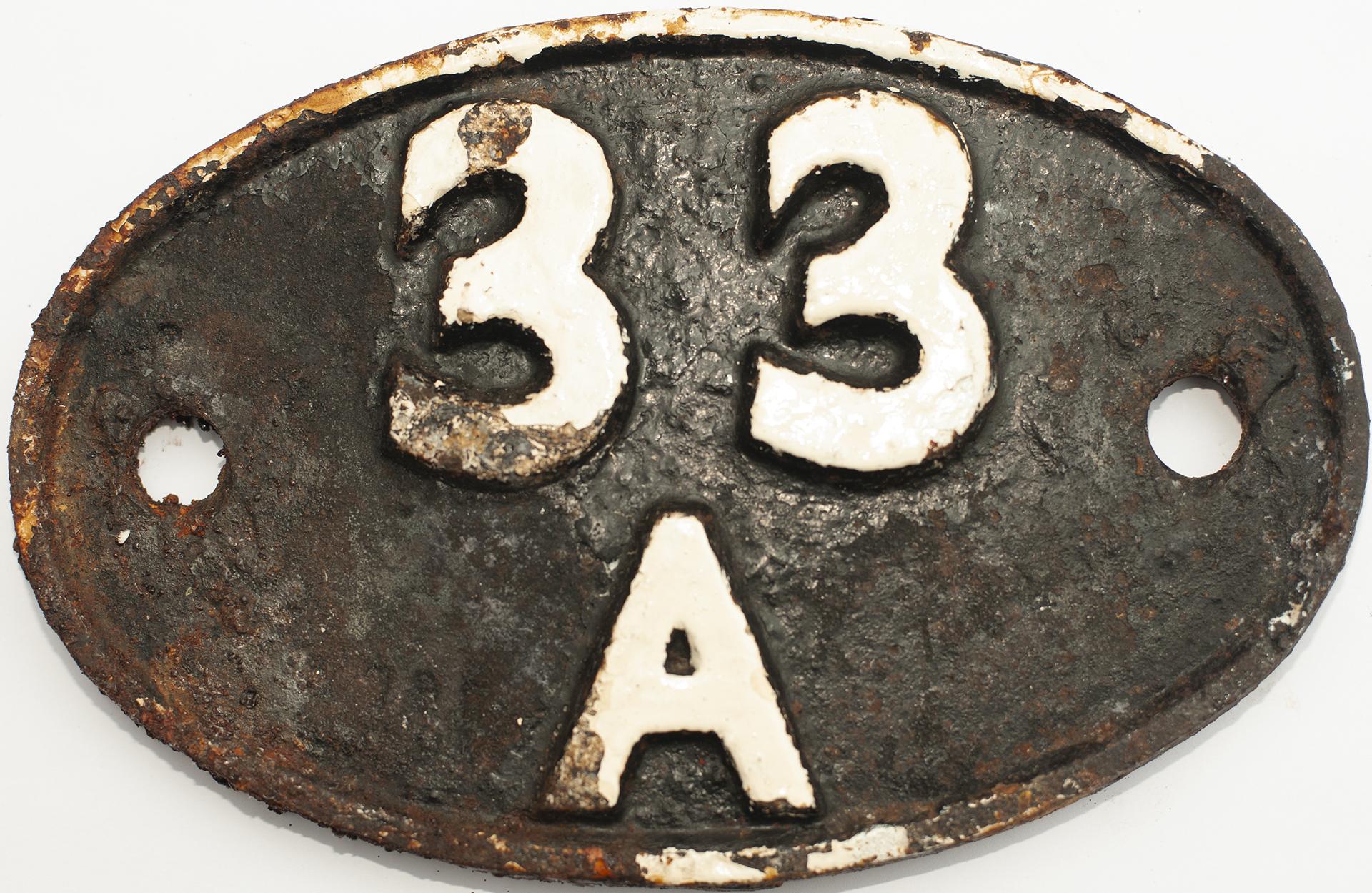 Shedplate 33a Plaistow 1950-1959 With A Sub Shed
