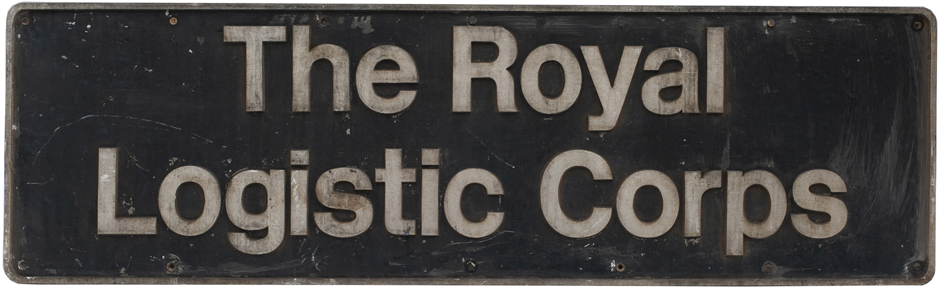 Nameplate THE ROYAL LOGISTIC CORPS Ex British