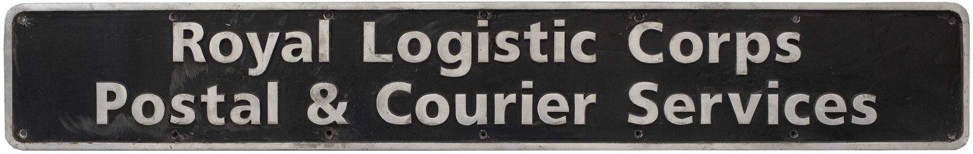 Nameplate ROYAL LOGISTIC CORPS POSTAL & COURIER