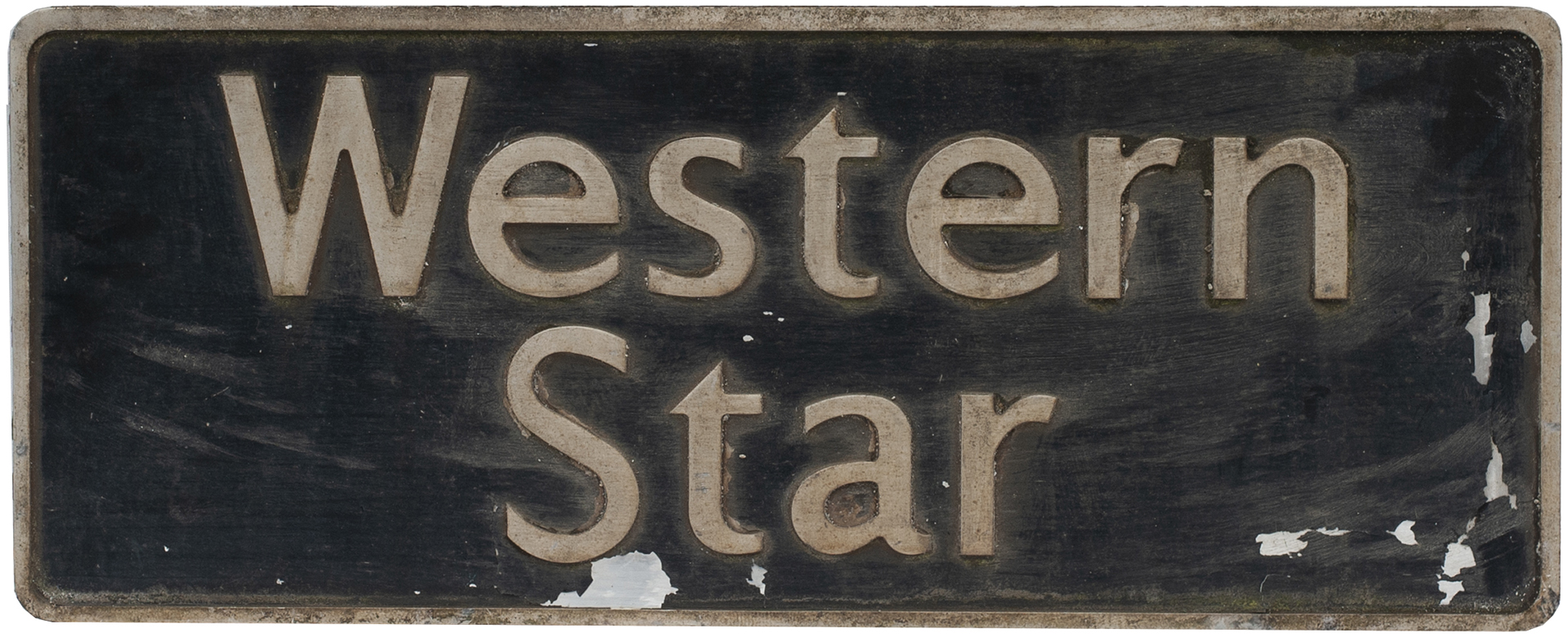 Nameplate WESTERN STAR Ex British Railways Class