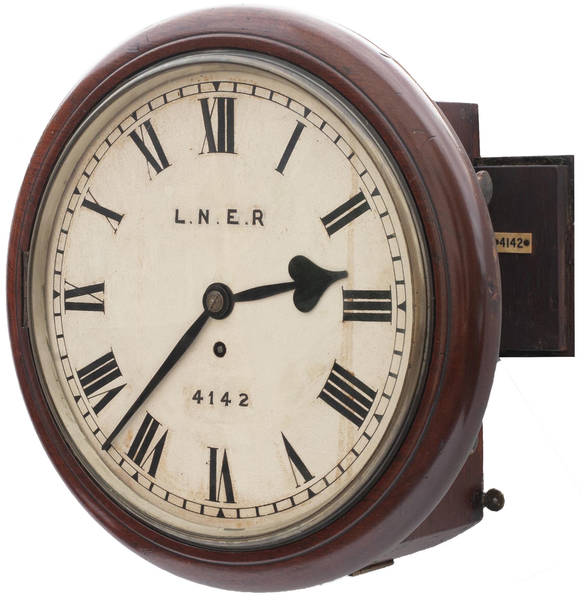 Great Eastern Railway 12in Dial Mahogany Cased