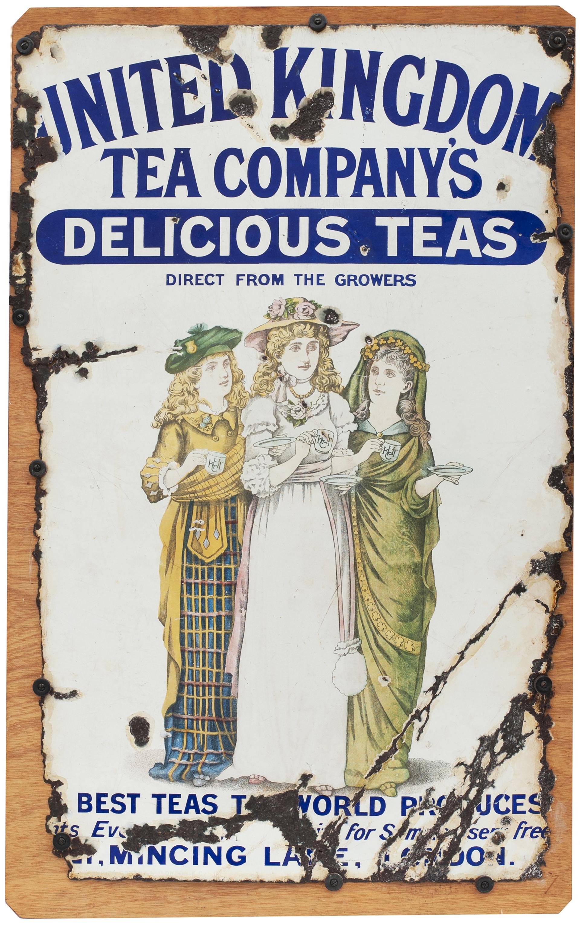 Advertising Enamel Sign UNITED KINGDOM TEA