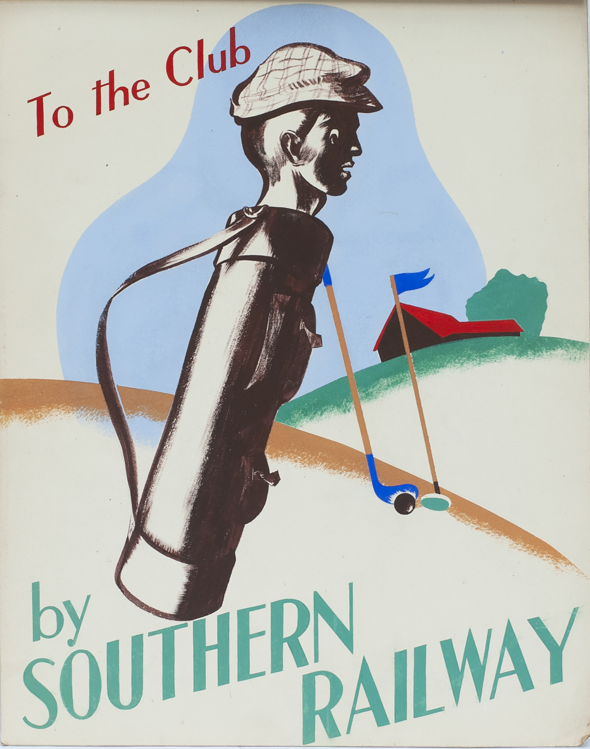 Southern Railway Poster Artwork TO THE CLUB By