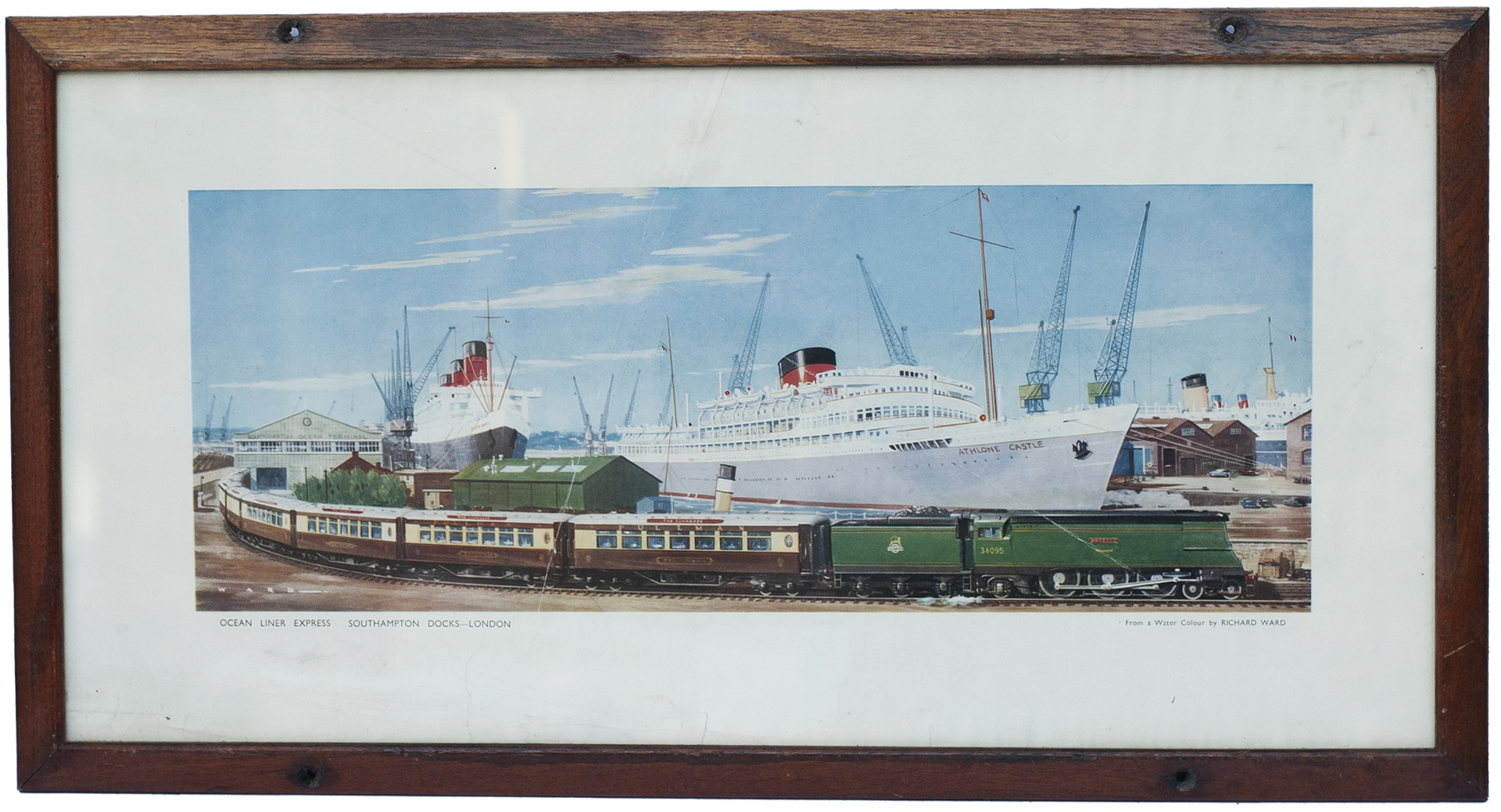 Carriage Print OCEAN LINER EXPRESS SOUTHAMPTON