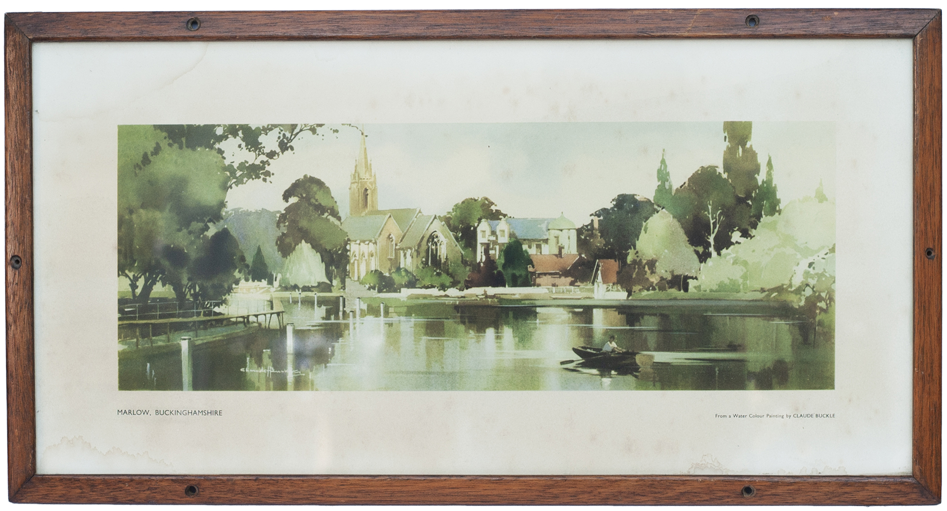 Carriage Print MARLOW, BUCKINGHAMSHIRE From An