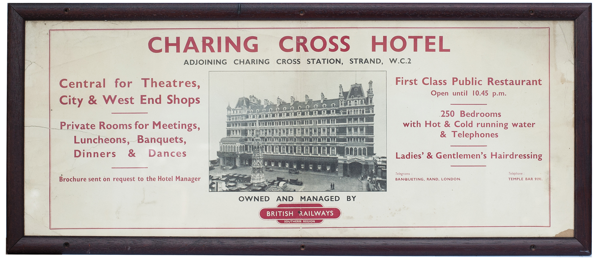 Carriage Print CHARING CROSS HOTEL ADJOINING