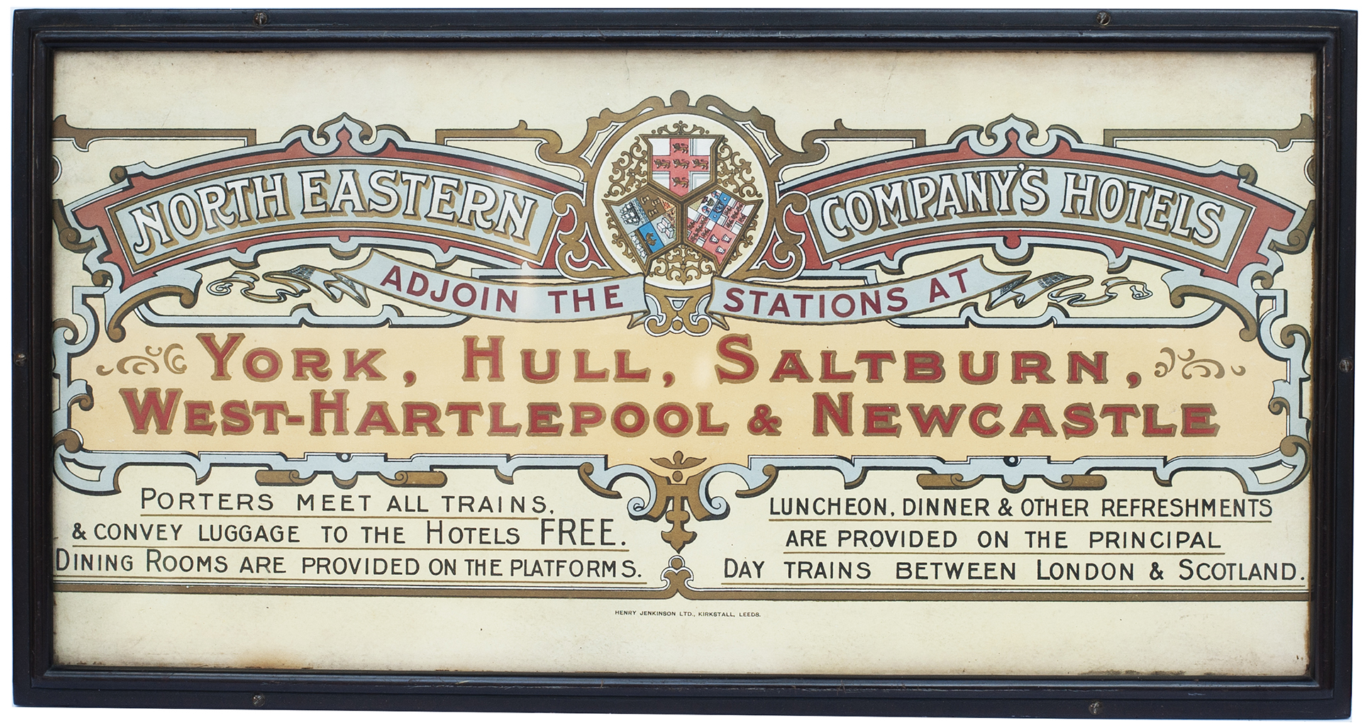 Carriage Print NORTH EASTERN COMPANY'S HOTELS
