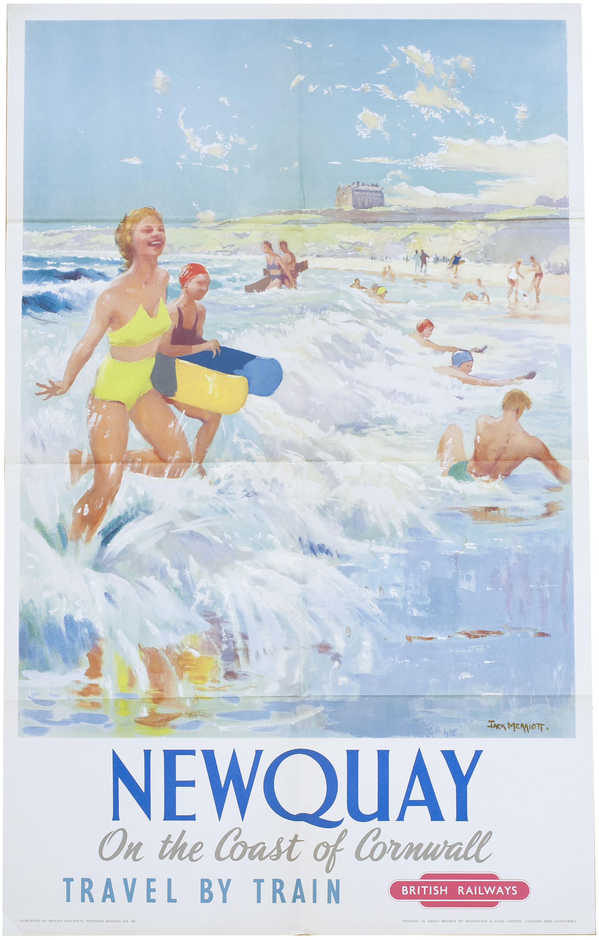 Poster BR(W) NEWQUAY ON THE COAST OF CORNWALL By