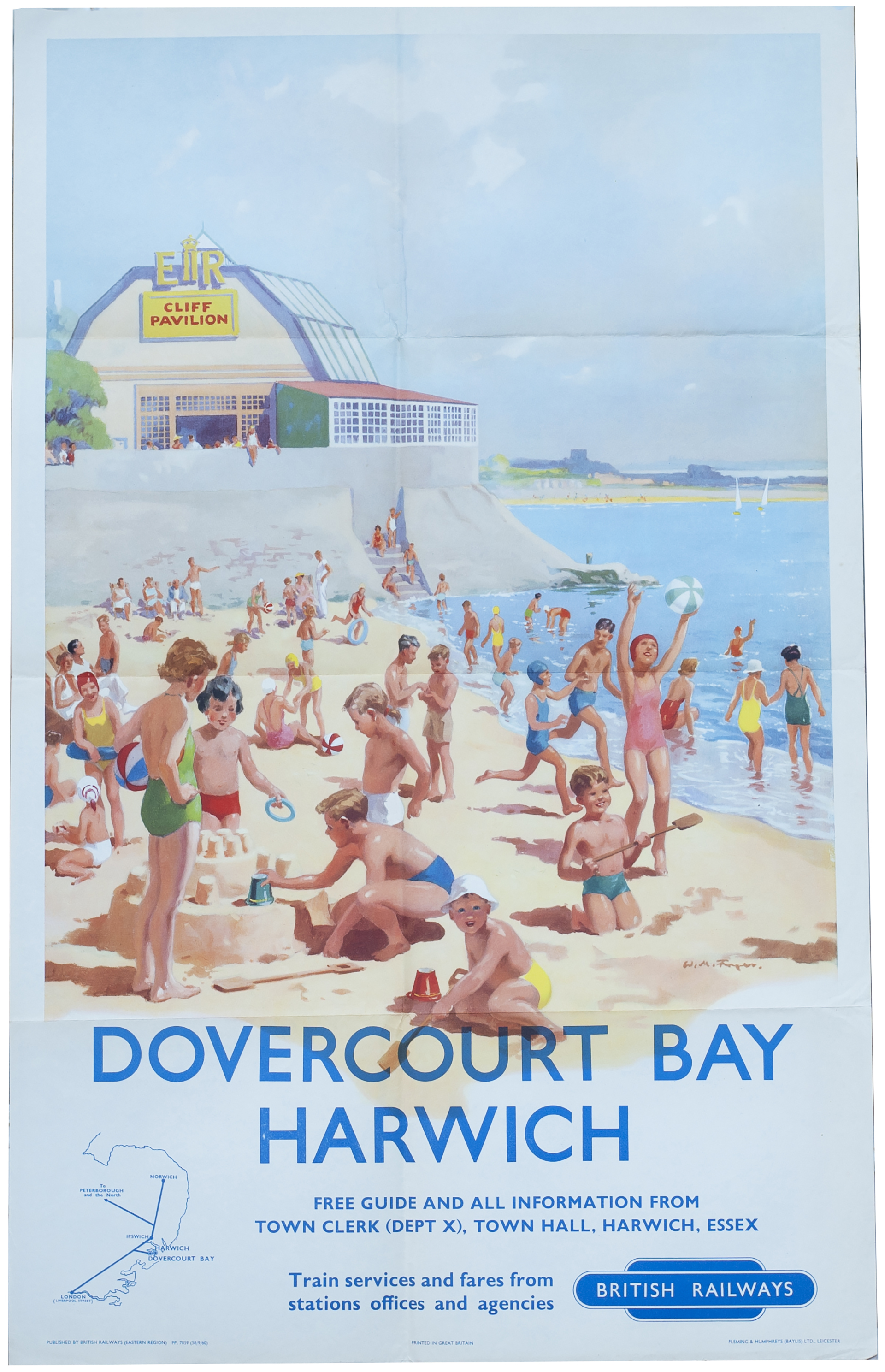 Poster BR(E) DOVER COURT BAY HARWICH By W. M.