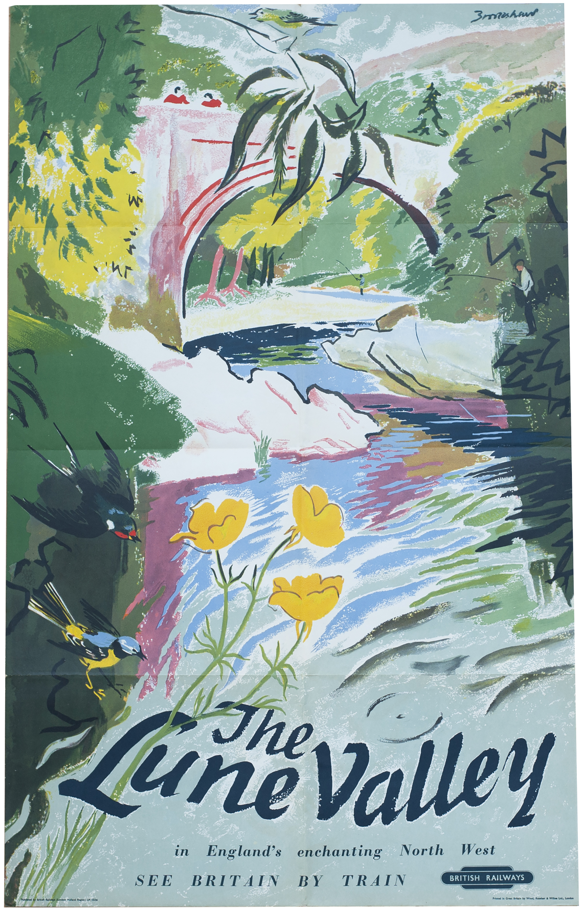 Poster BR(M) THE LUNE VALLEY By Brookshaw Issued