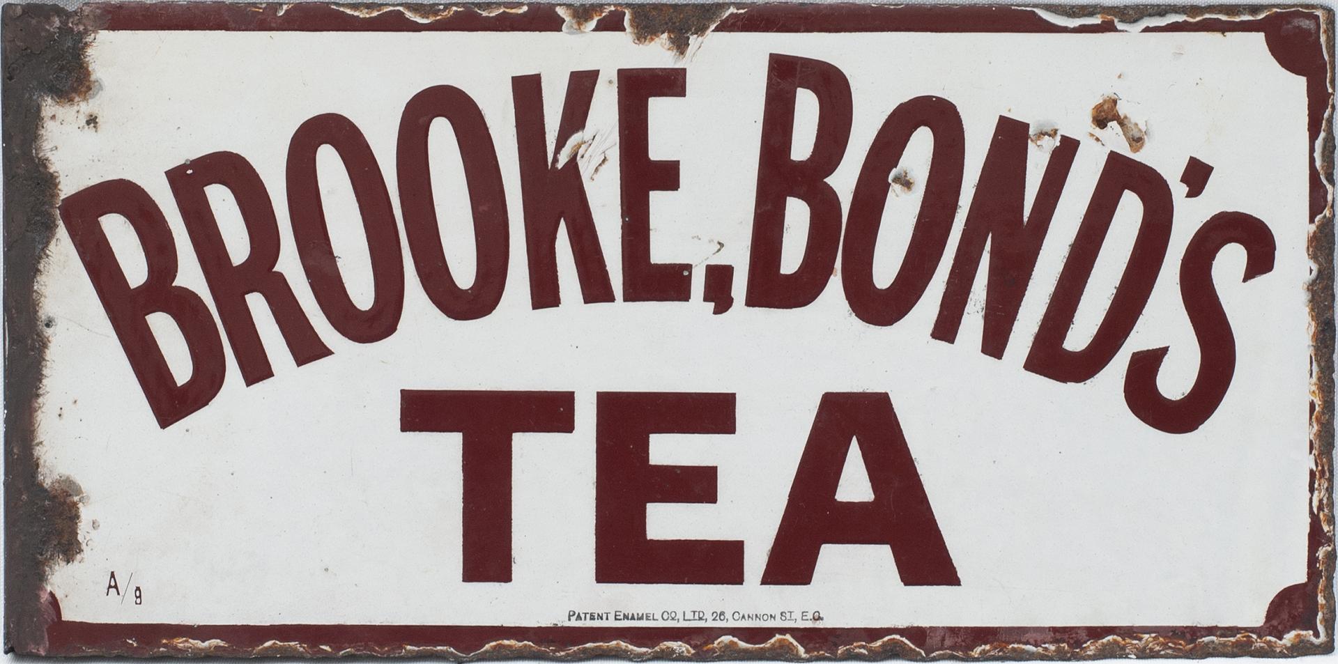 Advertising Enamel Sign BROOKE BOND'S TEA. Double