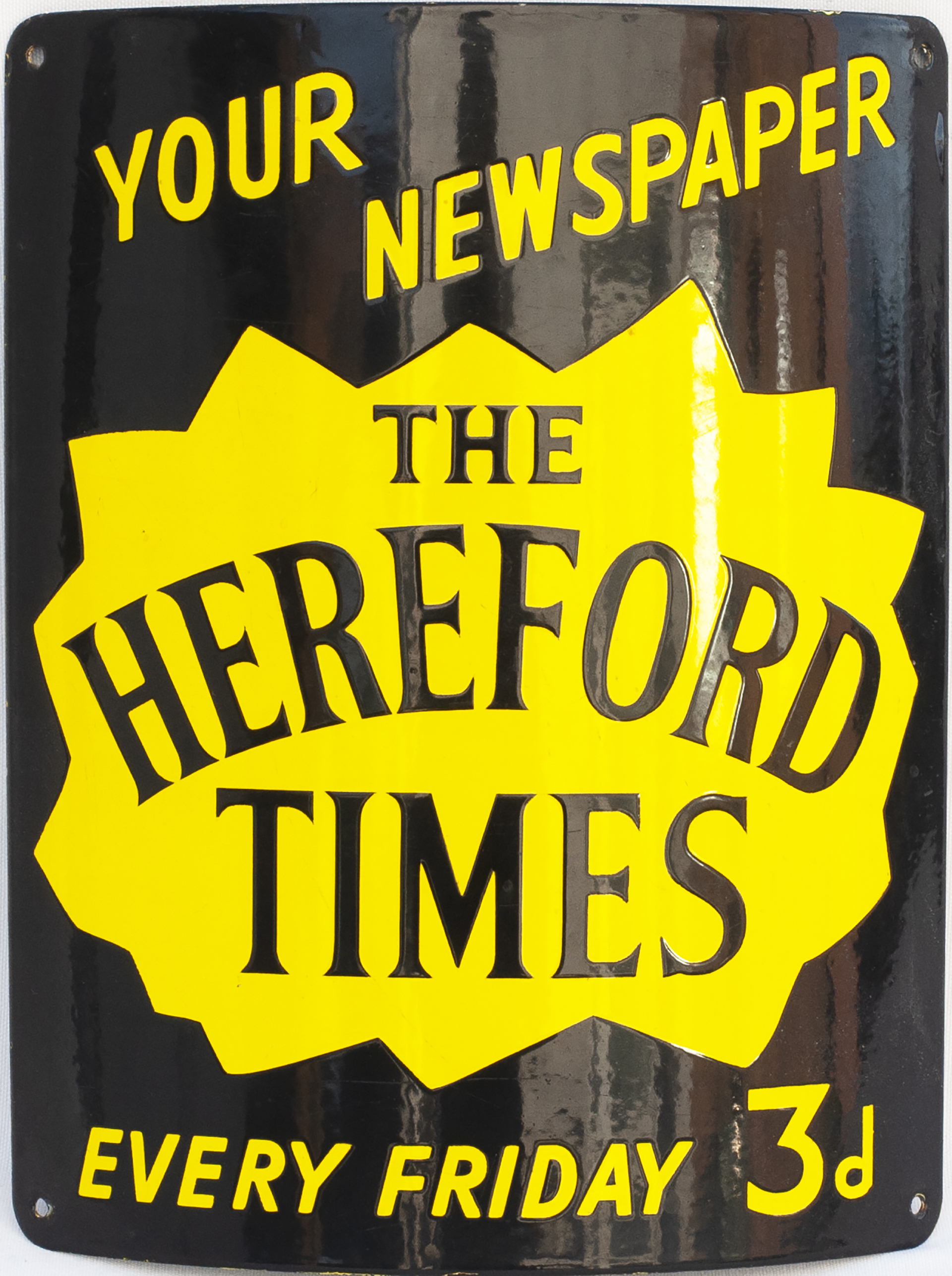 Advertising Enamel Sign YOUR NEWSPAPER THE