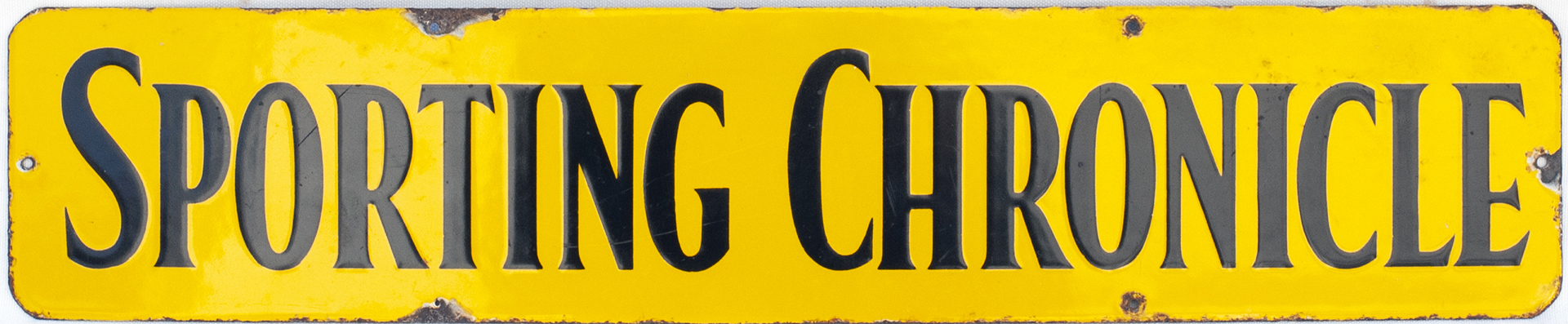 Advertising Enamel Sign SPORTING CHRONICLE. In