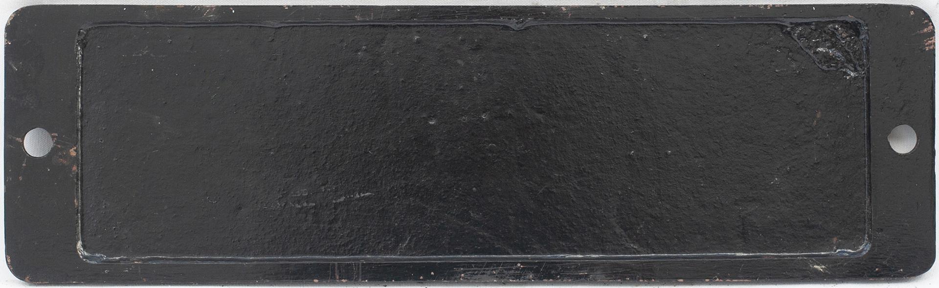 Smokebox Numberplate 4097. Ex GWR Collett Castle
