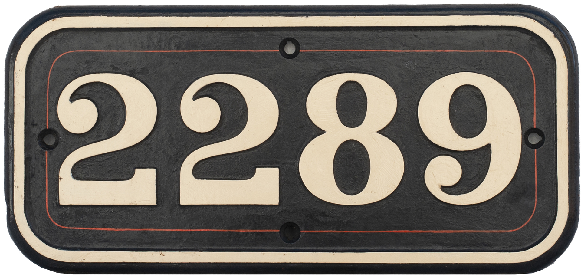 GWR Cast Iron Cabside Numberplate 2289 Ex Collett