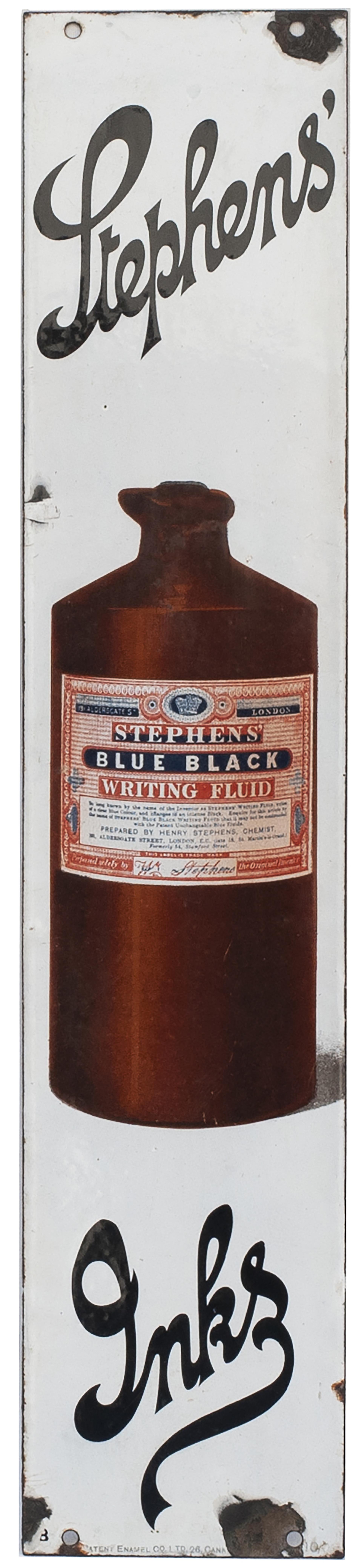 Advertising Enamel Sign STEPHENS' INKS. In Very