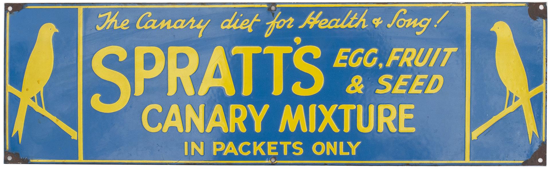 Advertising Enamel Sign SPRATT'S EGG FRUIT & SEED