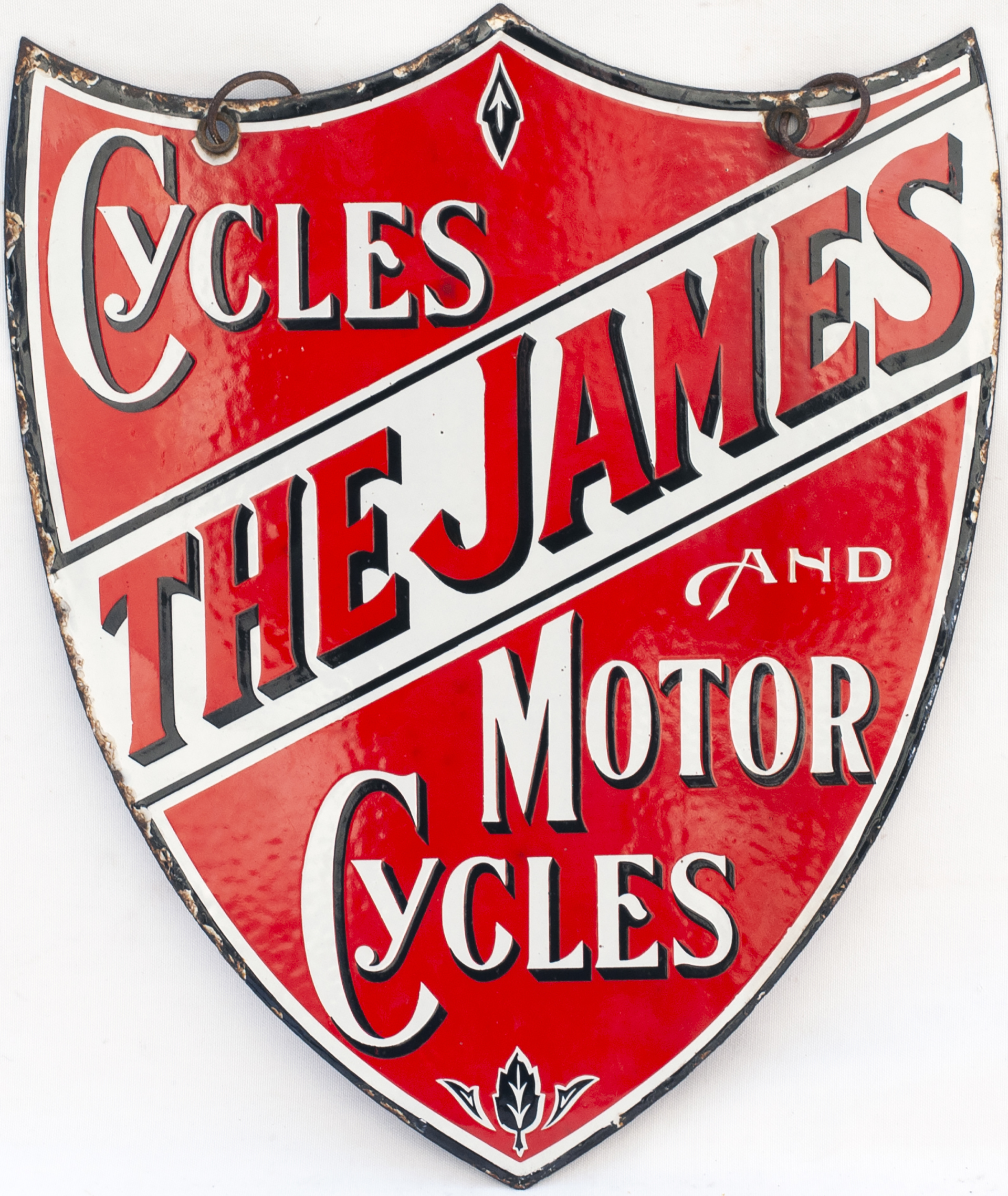 Advertising Enamel Sign THE JAMES CYCLES AND MOTOR