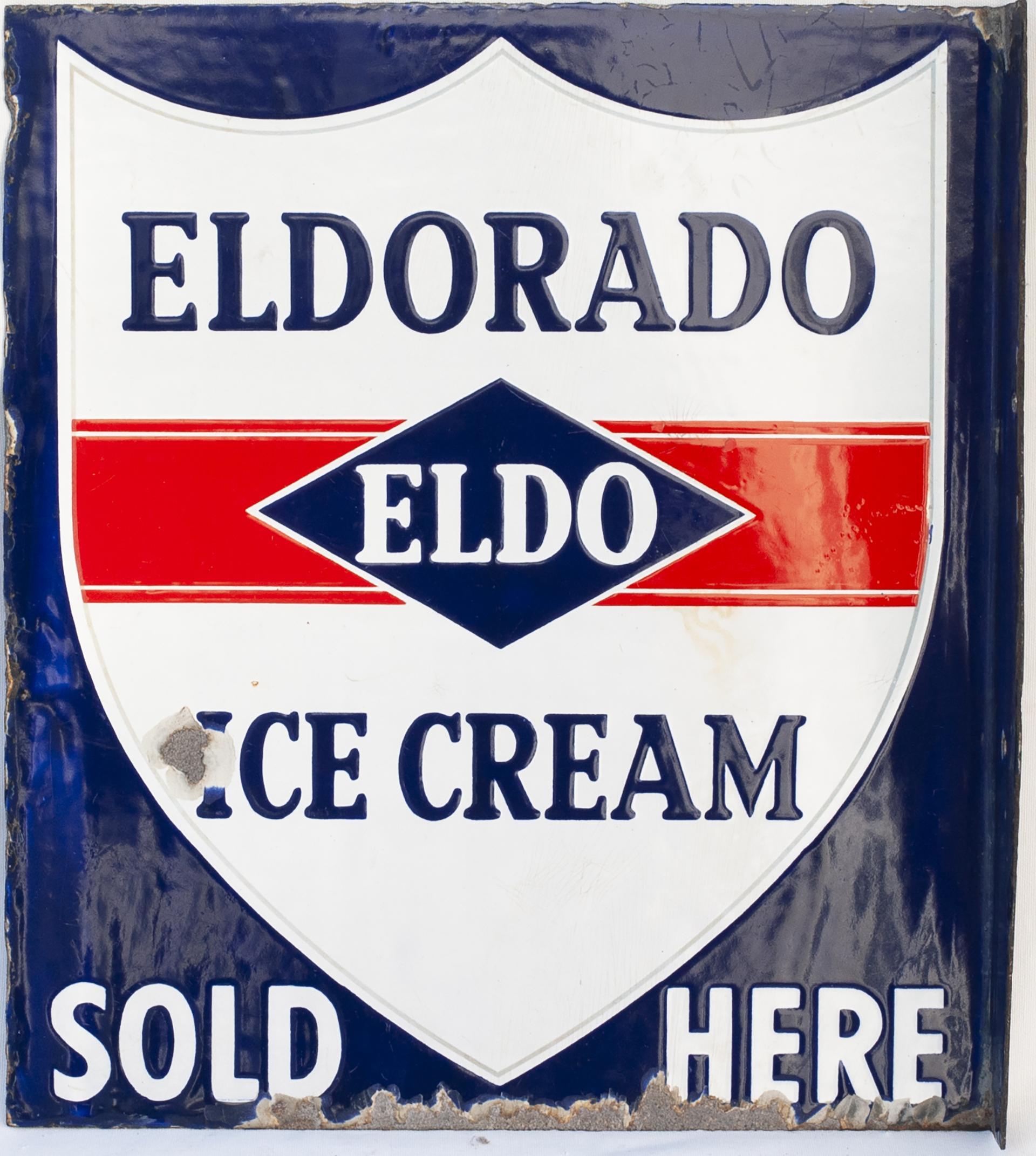 Advertising Enamel Sign ELDORADO ICE CREAM SOLD