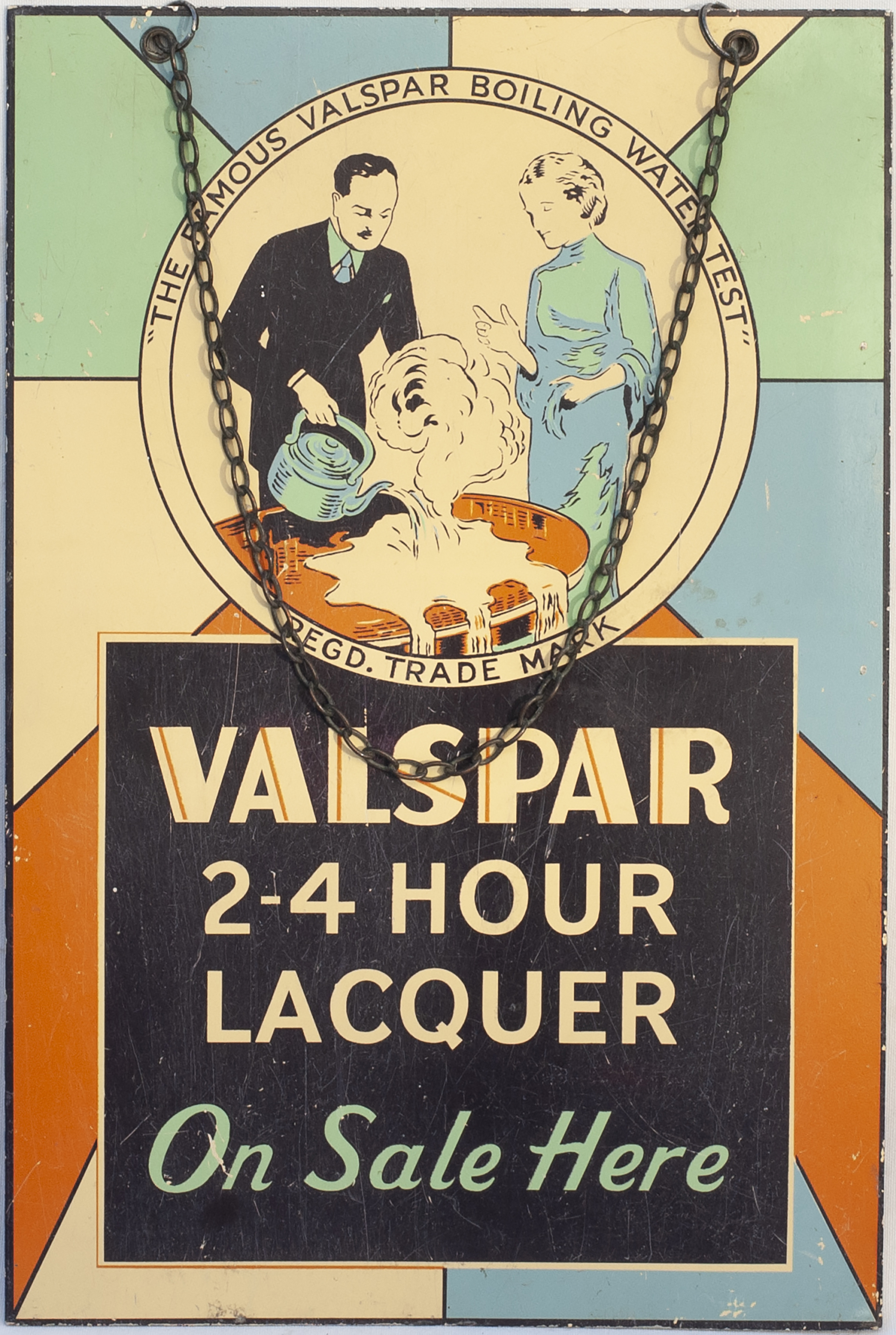 Advertising Sign VALSPAR 2-4 HOUR LACQUER ON SALE