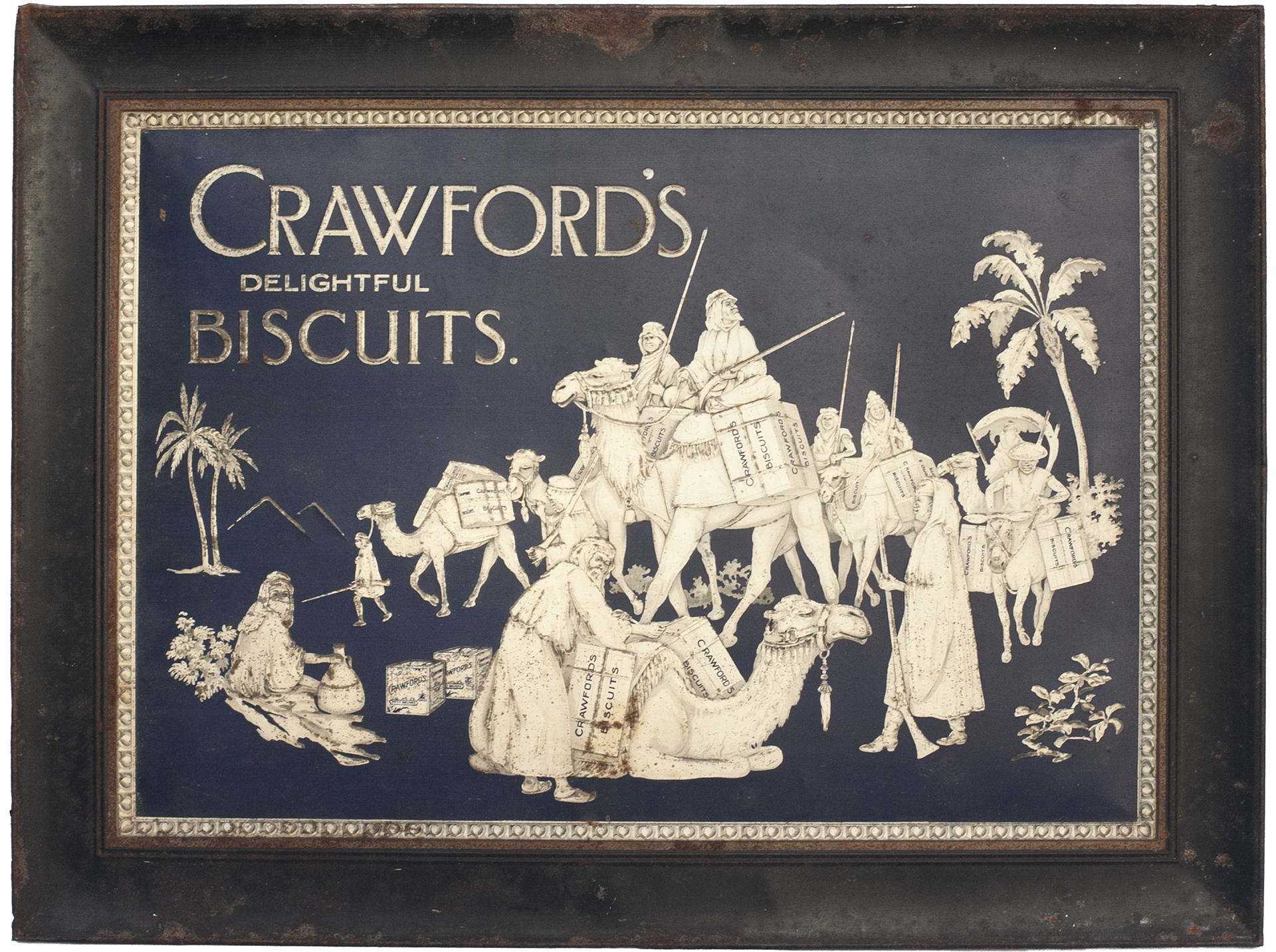 Advertising Sign CRAWFORD'S DELIGHTFUL BISCUITS.