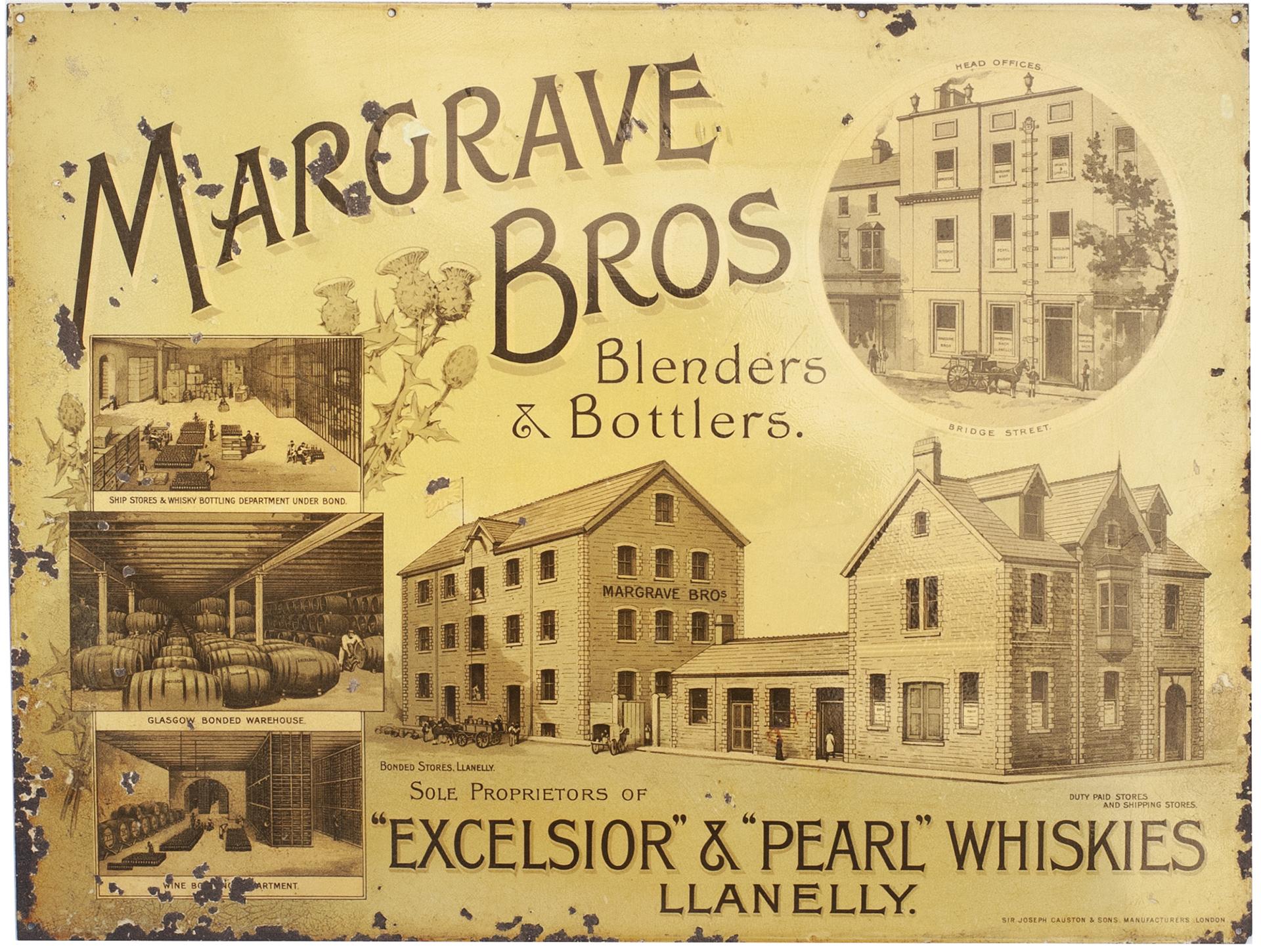 Advertising Sign MARGRAVE BROS BLENDERS & BOTTLERS