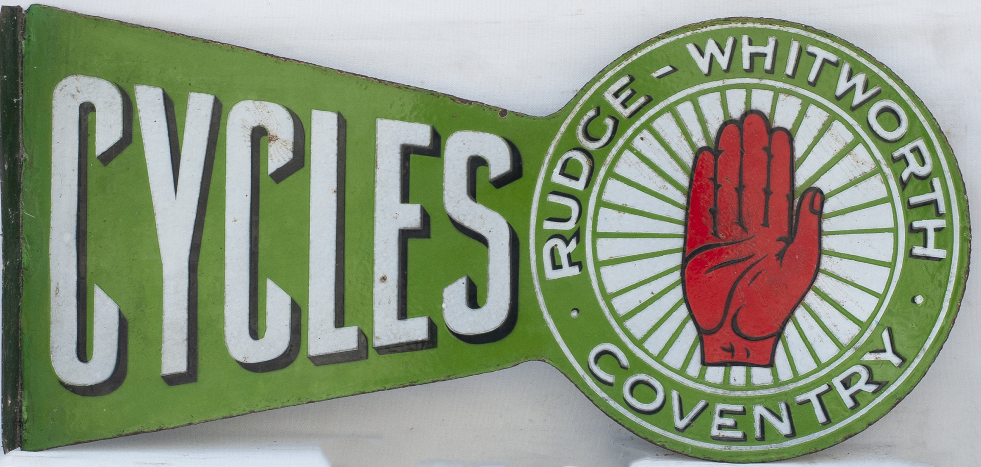Advertising Enamel Sign RUDGE WHITWORTH CYCLES