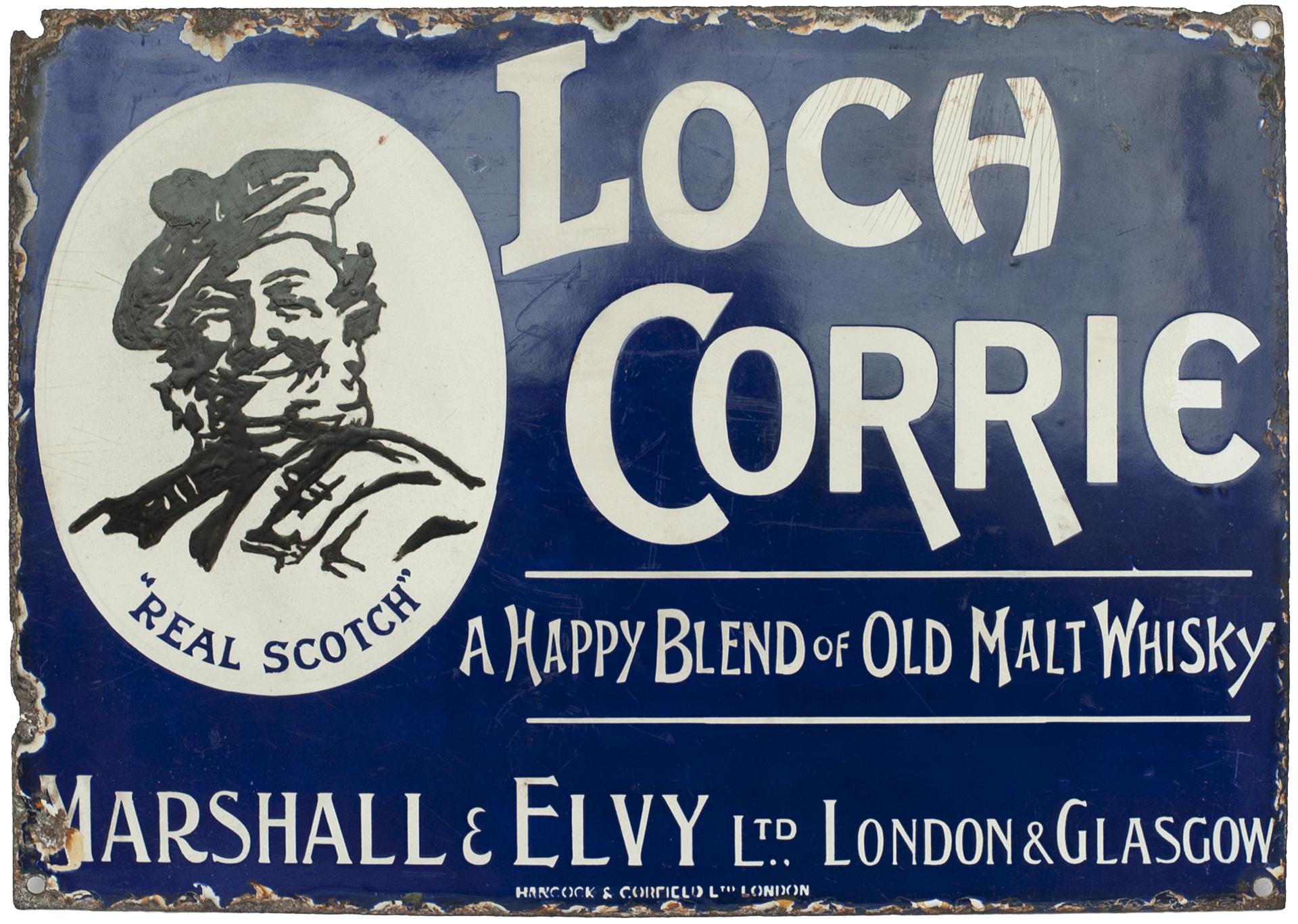 Advertising Enamel Sign LOCH CORRIE A HAPPY BLEND