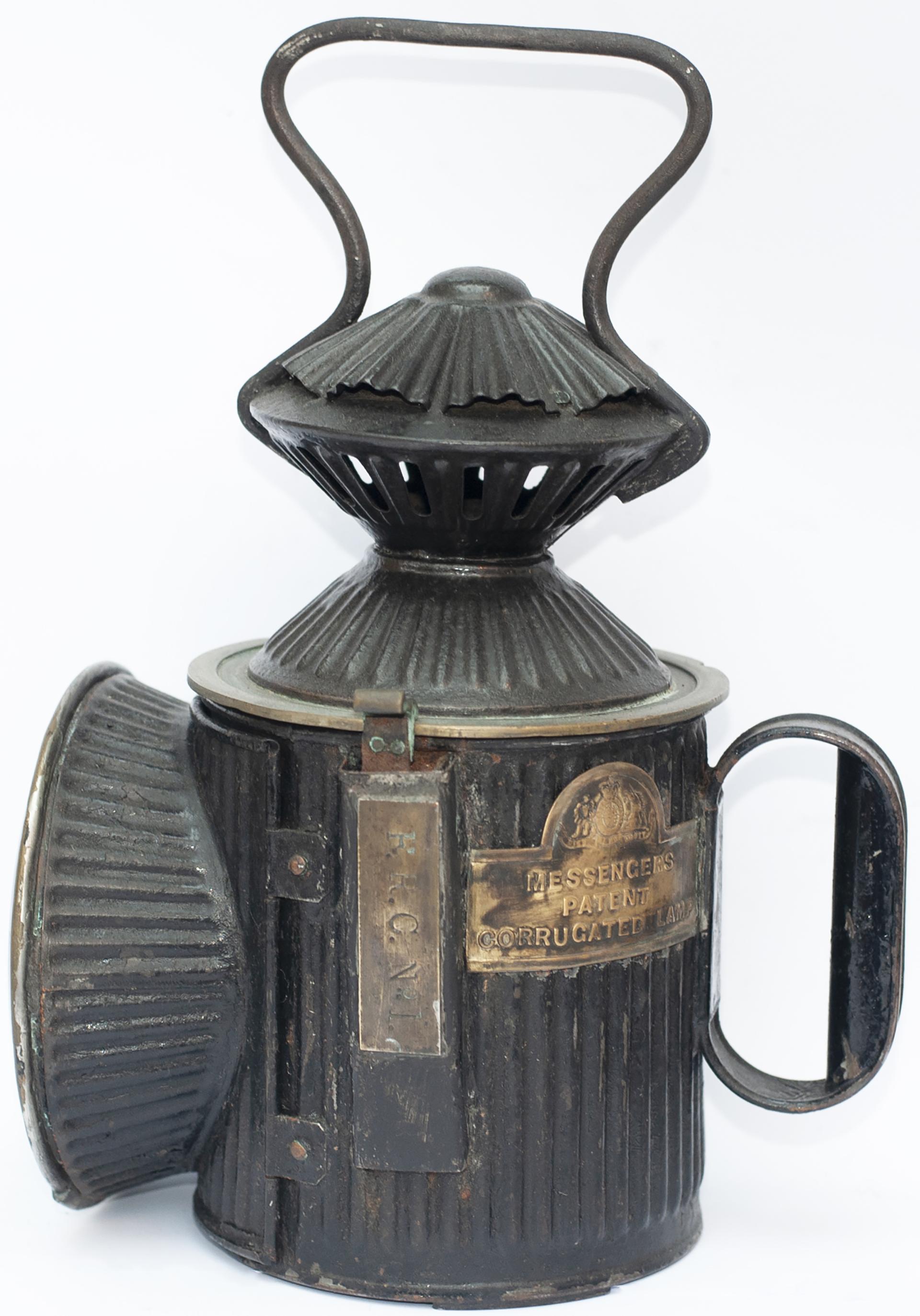 Furness Railway 3 Aspect Hand Lamp Brass Plated On