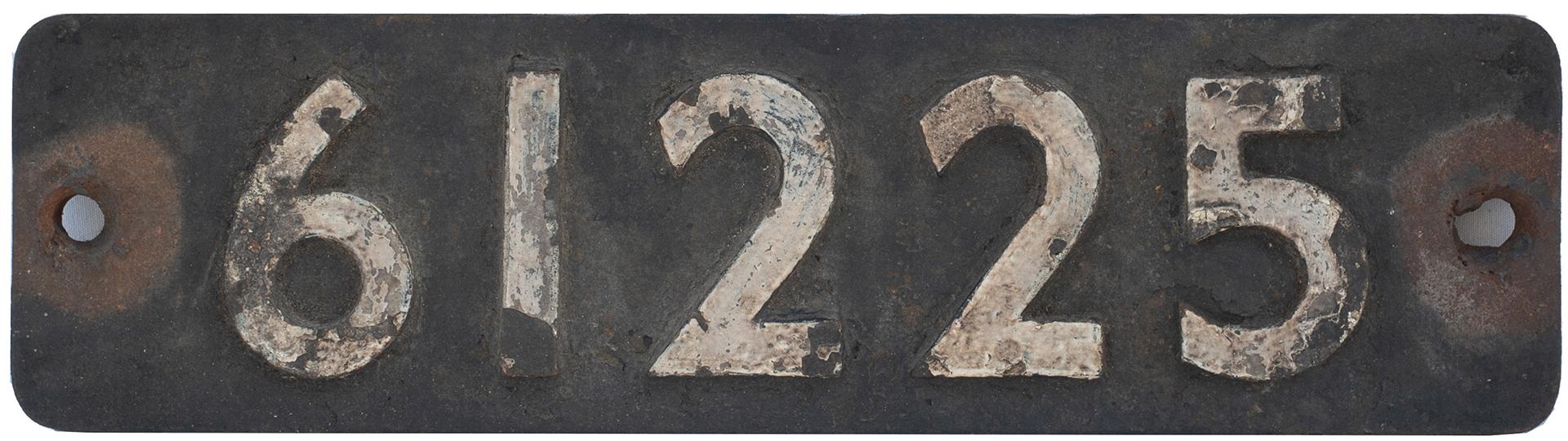 Smokebox Numberplate 61225. Ex LNER Thompson b1