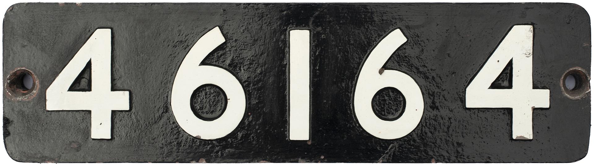 Smokebox Numberplate 46164 Ex LMS Fowler Royal