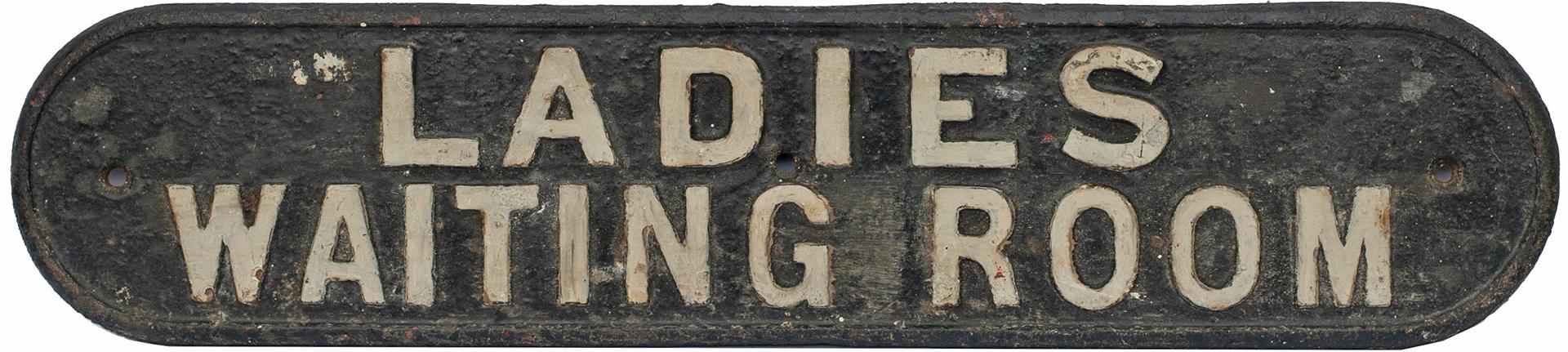 LNER Cast Iron Doorplate LADIES WAITING ROOM. In
