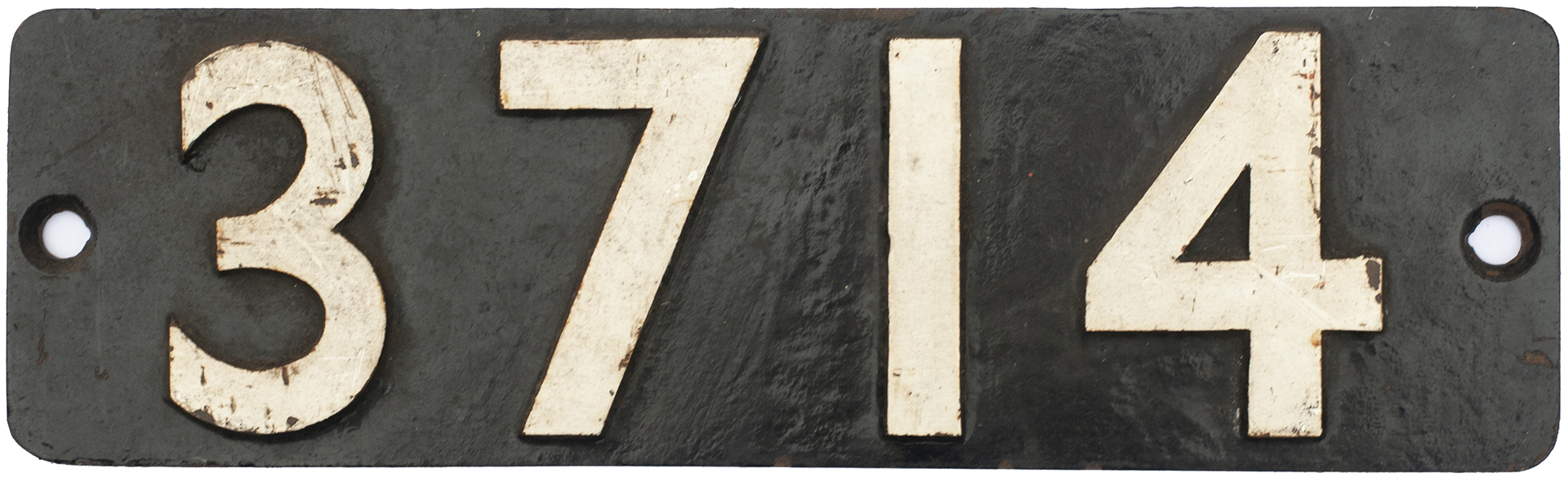 Smokebox Numberplate 3714 Ex GWR Collett 0-6-0 PT
