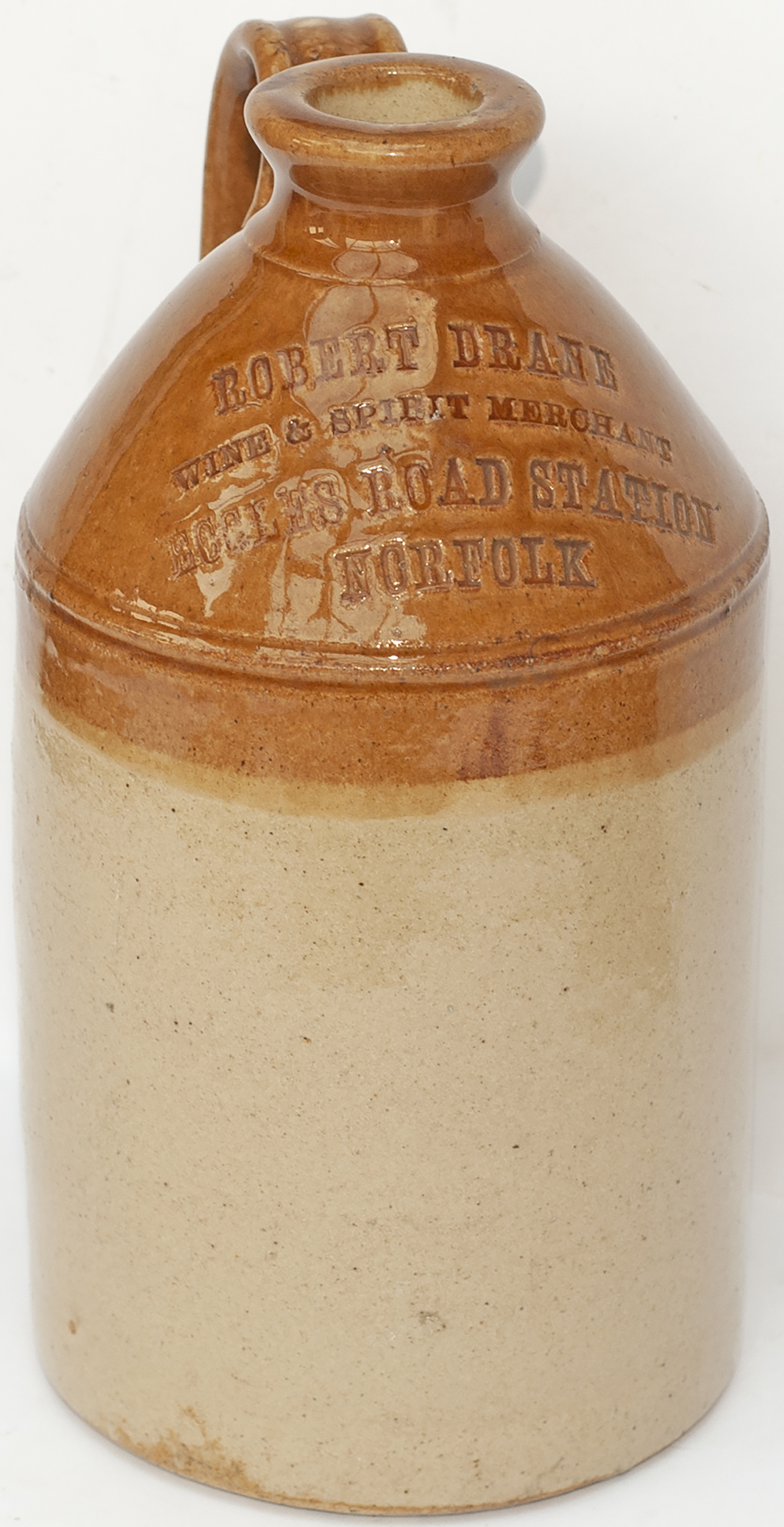 Stone Ware Flagon ROBERT DRANE WINE & SPIRIT