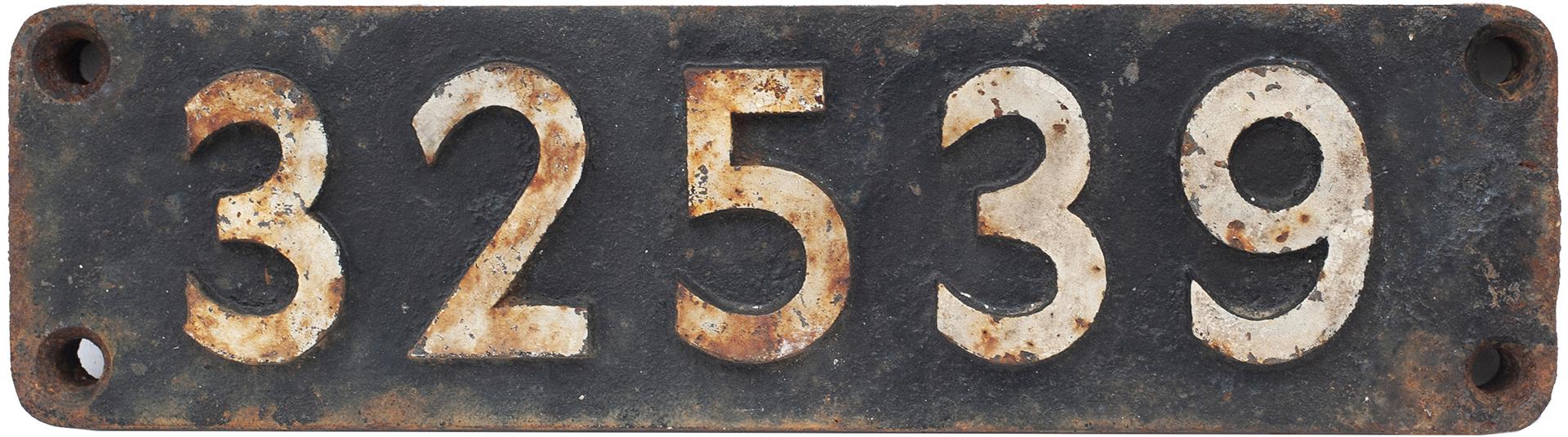 Smokebox Numberplate 32539 Ex LBSCR Billington c2x