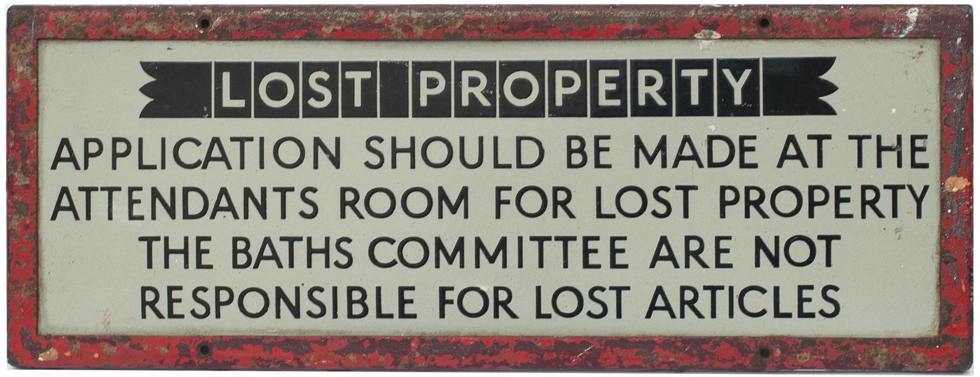 Enamel Doorplate LOST PROPERTY APPLICATIONS SHOULD
