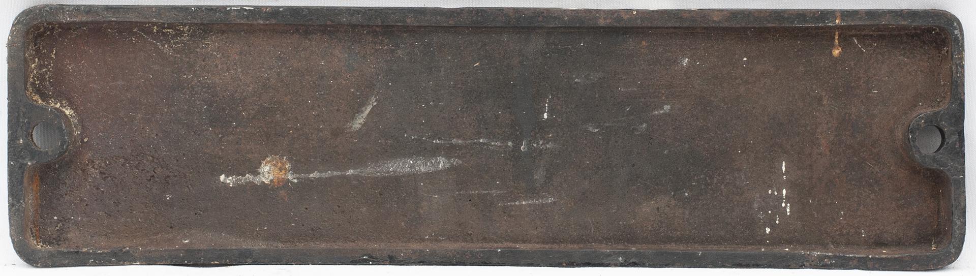 Smokebox Numberplate 44014. Ex LMS Fowler 4f 0-6-0