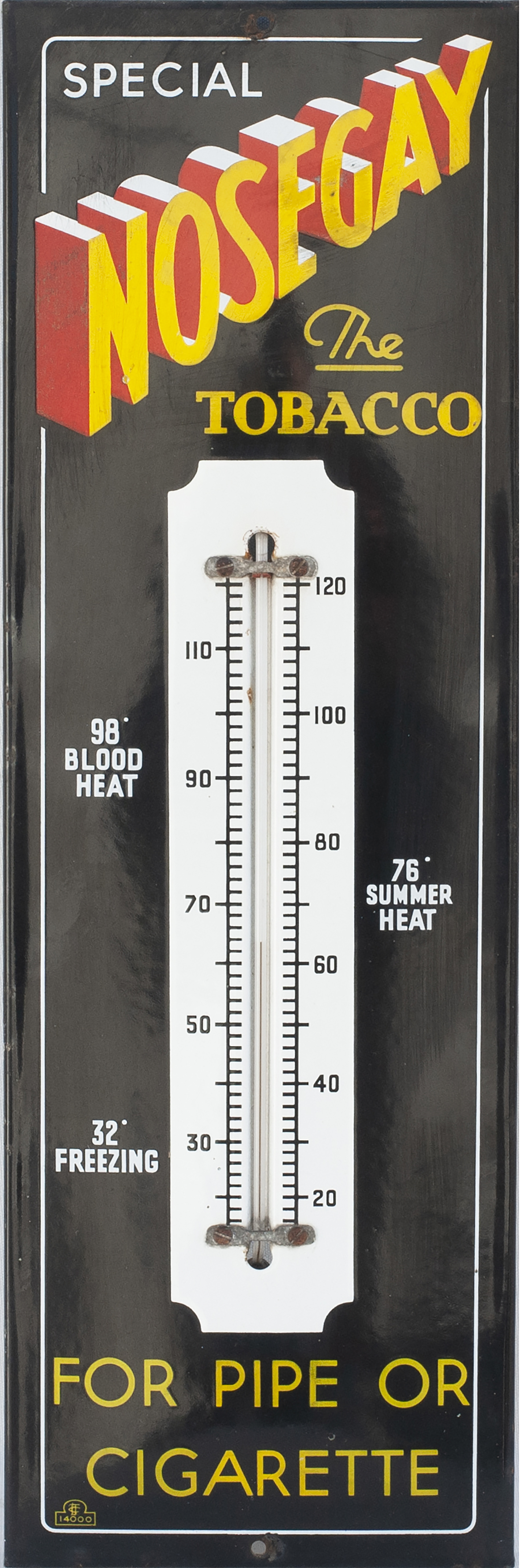 Advertising Enamel Wall Mounted Thermometer