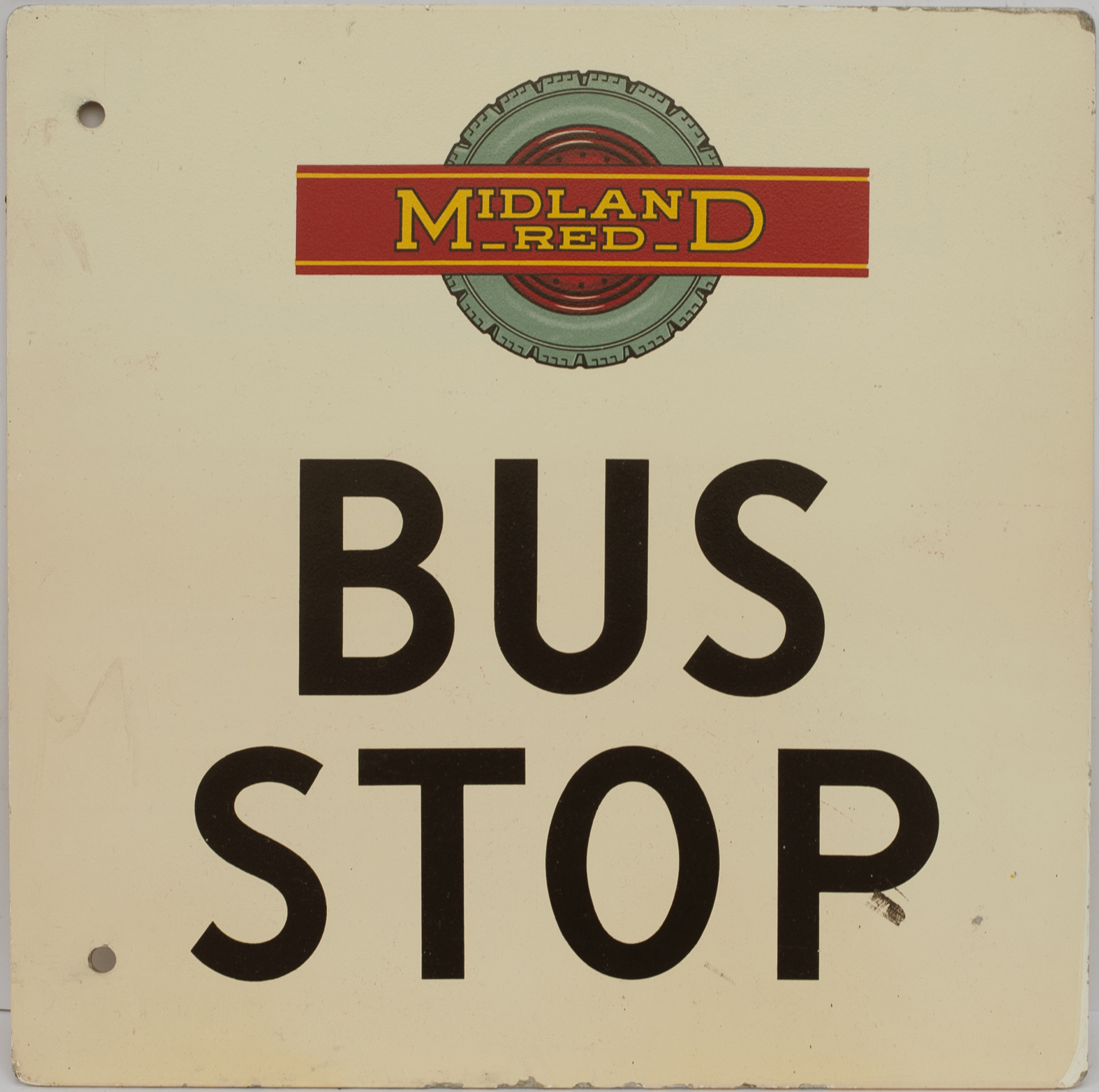 Bus Motoring Sign MIDLAND RED BUS STOP. Double