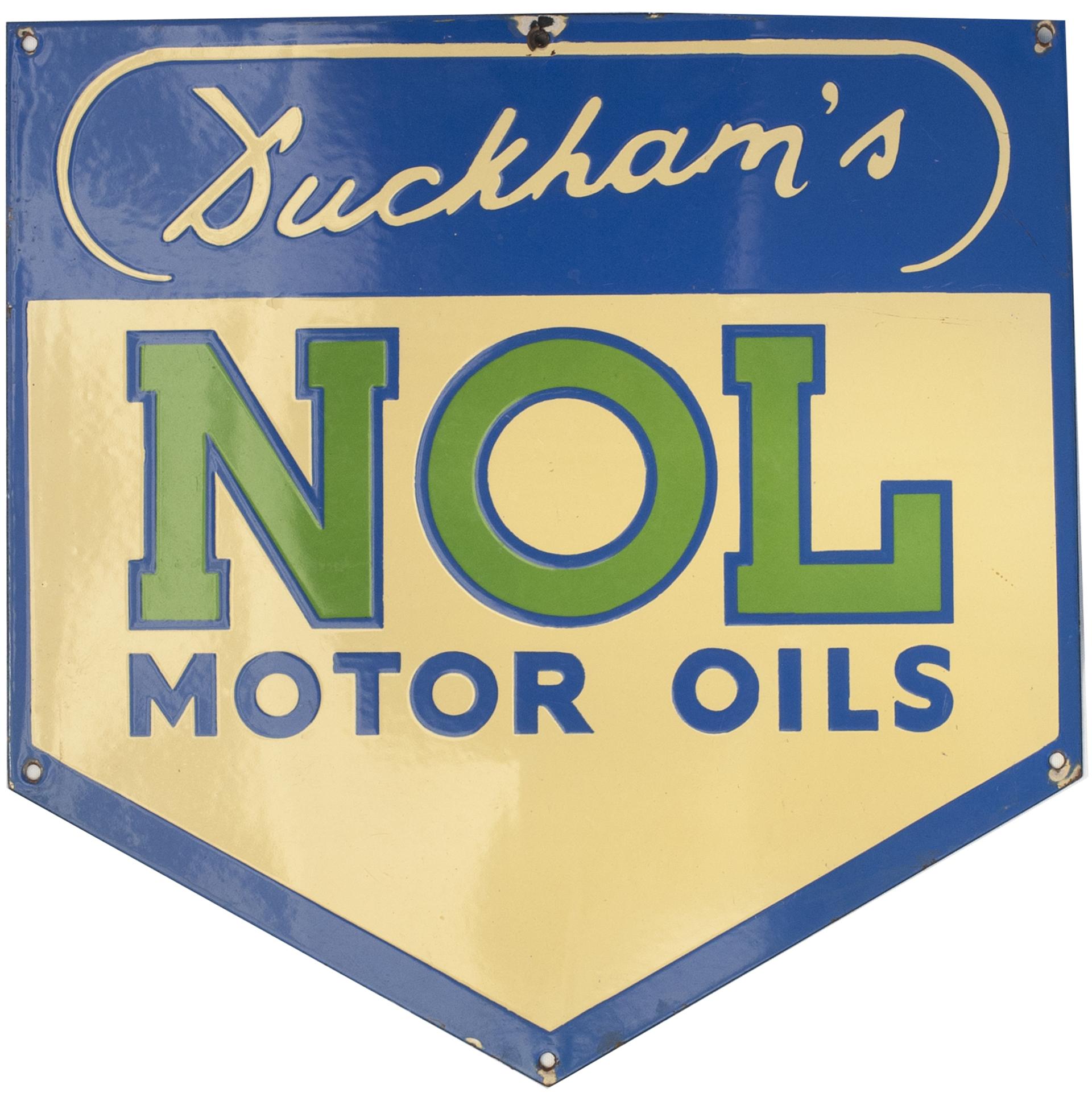Motoring Advertising Enamel Sign DUCKHAMS NOL