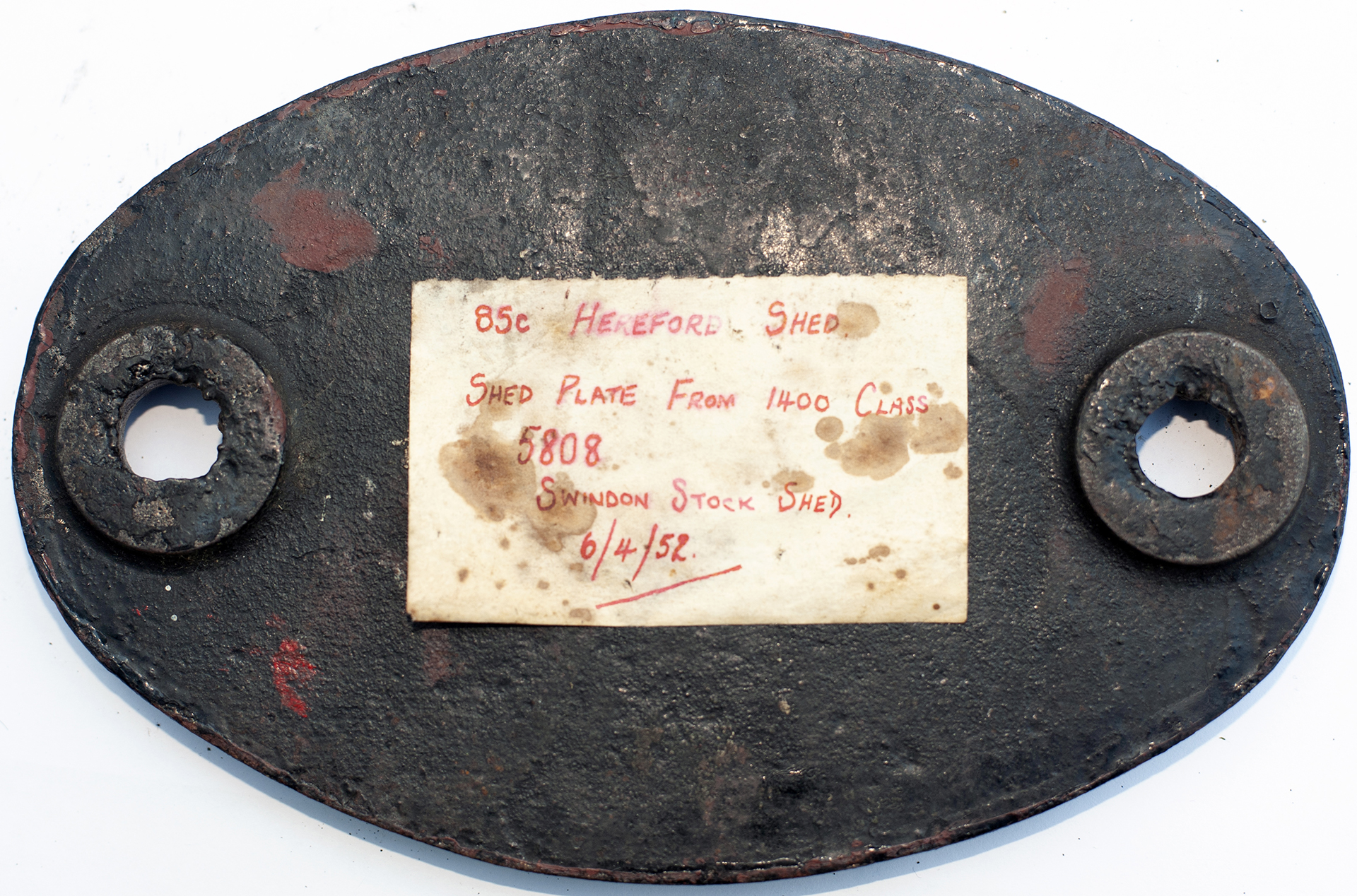 Shedplate 85c HEREFORD 1950-1961 With Sub-Sheds