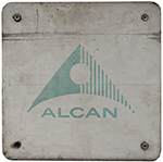 Nameplate Badge Only ALCAN, Accompanied The - select image 1