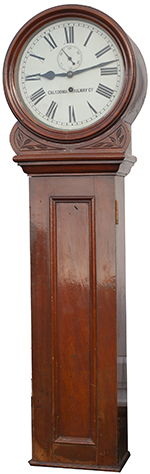 Caledonian Railway 14in Dial Mahogany Cased - select image 1