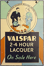 Advertising Sign VALSPAR 2-4 HOUR LACQUER ON SALE - select image 1