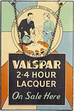 Advertising Sign VALSPAR 2-4 HOUR LACQUER ON SALE - select image 2